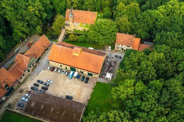 Eventlocation Hannover - Das Rittergut Wichtringhausen aus der Vogelperspektive